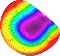 Wafer resistivity measurement map 3D